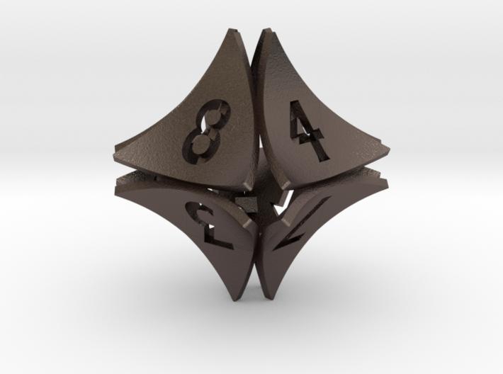 Peel Dice - D8 (eight sided gaming die) 3d printed