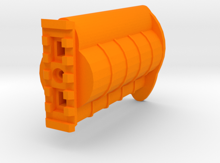 Incognito Pistol Stock for TeleScopix System 3d printed