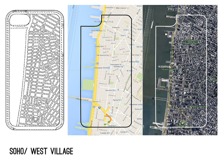 West Village/ Soho NYC Map iPhone 5/5s Case 3d printed