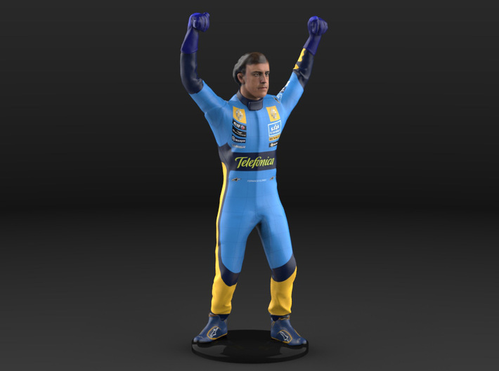 Fernando 1/18 Celebrating #4 Figure 2005 3d printed
