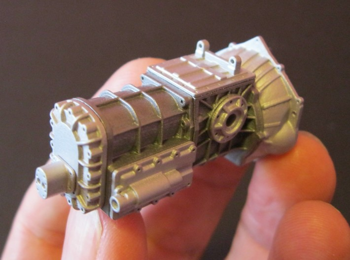 1/8 T-44 Transaxle With Chevy Bellhousing 3d printed