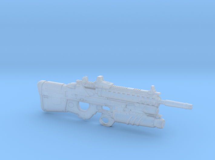 cyberpunk - near future F2076T GL in 1/6 scale 3d printed
