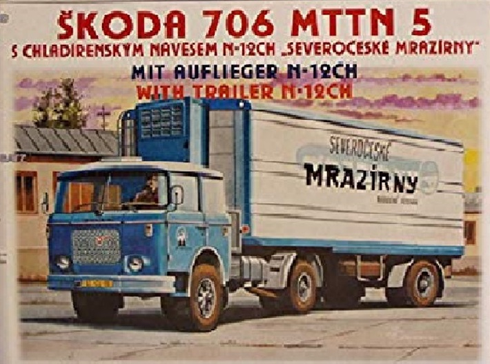 1/87 Scale Custom Skoda Flatbed Trailer 3d printed This is the Truck/ Tractor this trailer was designed for.