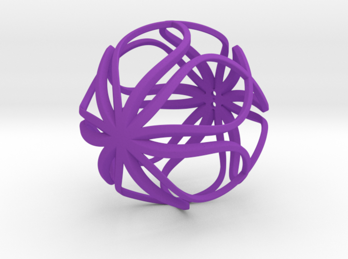 Loopy Ornament 3d printed