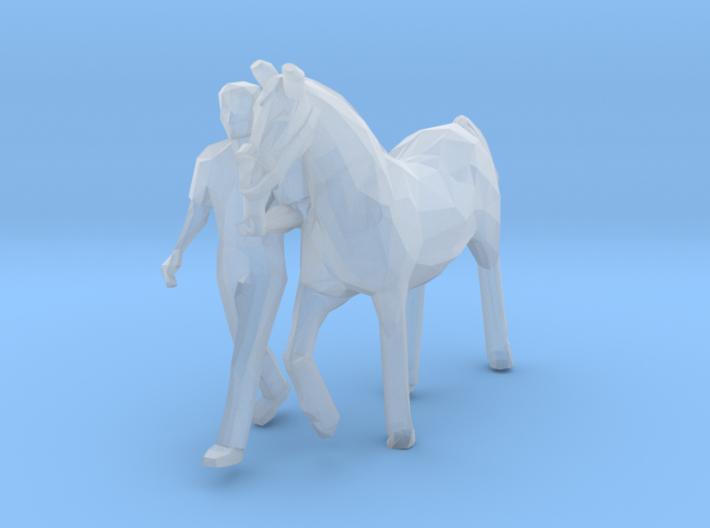 Pferd mit Begleiter (N 1:160) 3d printed