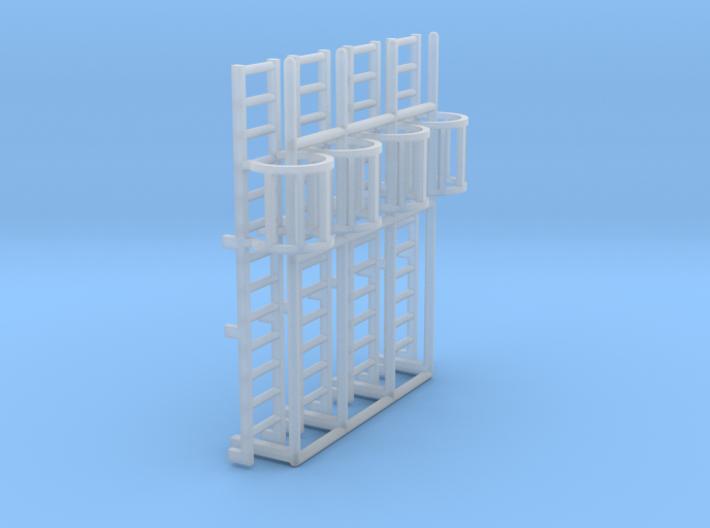 1:100 Cage Ladder 42mm Platform 3d printed