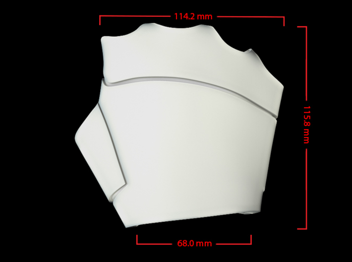Iron Man Right Palm (Medium/Large) 3d printed CG Render (Top Measurements)