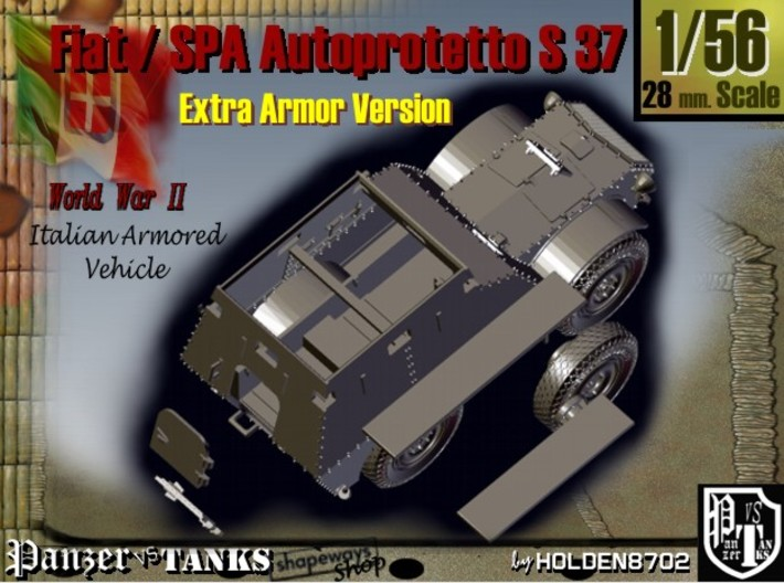 1-56 Fiat-SPA Autoprotetto S37 Extra Armor 3d printed