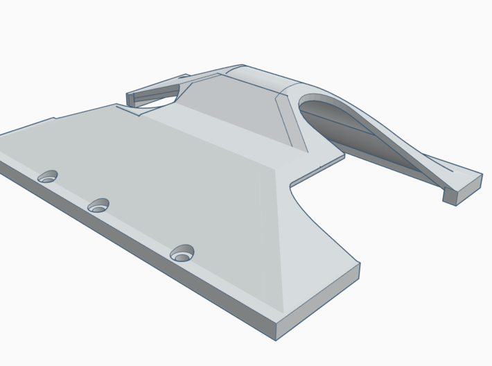 RIGHT SIDE TF2 GCM LRT2 Trans/T-case Skid Plate 3d printed