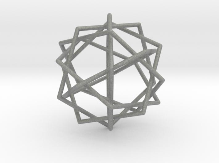 0453 Interwoven Set of Six Pentagons (d=10.0 cm) 3d printed