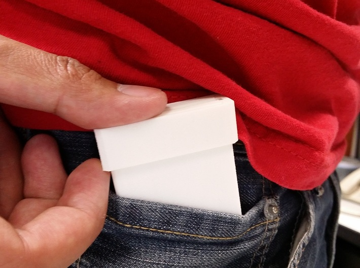 Ultra Slim Ring Box with Spinning Ring Feature 3d printed Easily fits into the fifth jeans pocket.