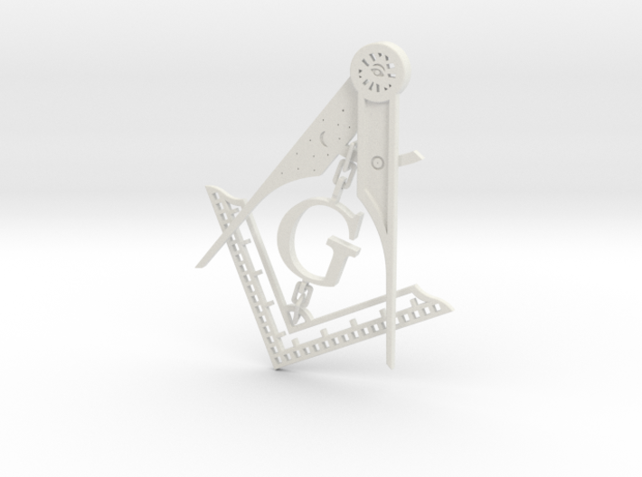 Square & Compass 3d printed