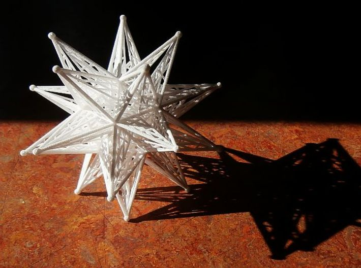 10 cm Great Stellated Dodecahedron 3d printed