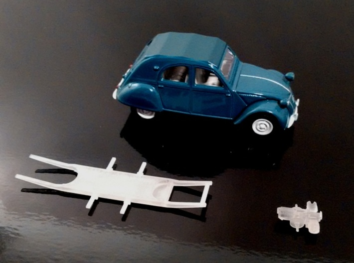 Chassis 2CV (3 inches) 3d printed