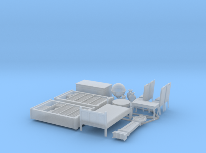 1/72nd (20 mm) scale furnitures (15 pieces) 3d printed