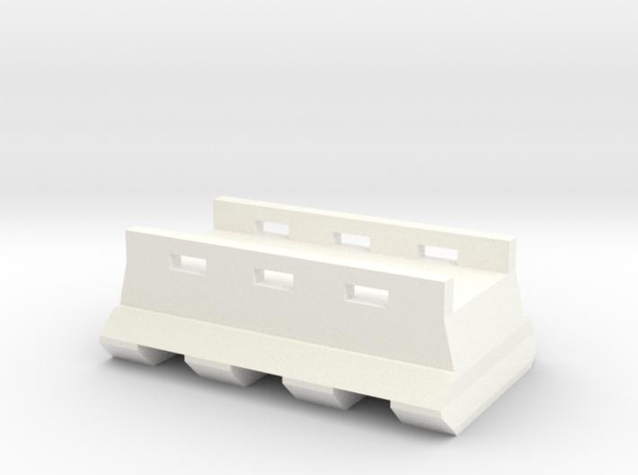 M4 Buffer Tube Bottom Picatinny Rail (3 Slots) 3d printed