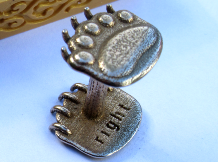 Teddybear clawed-paw wax seal 3d printed paws are labelled for your convenience