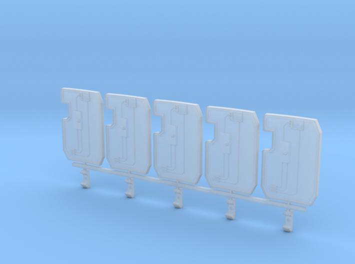 Primaris Boarding Shield V1 - right handed x5 3d printed