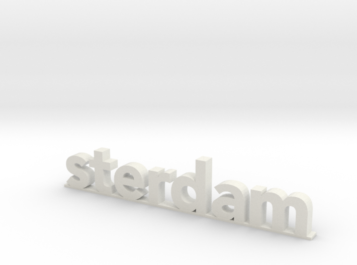 I amsterdam (2/2) 3d printed