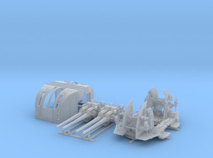 """1/72 RN 4""""/45 (10.2 cm) QF Mark XVI Gun x2 3d printed 1/72 RN 4""""/45 (10.2 cm) QF Mark XVI Gun x2"""