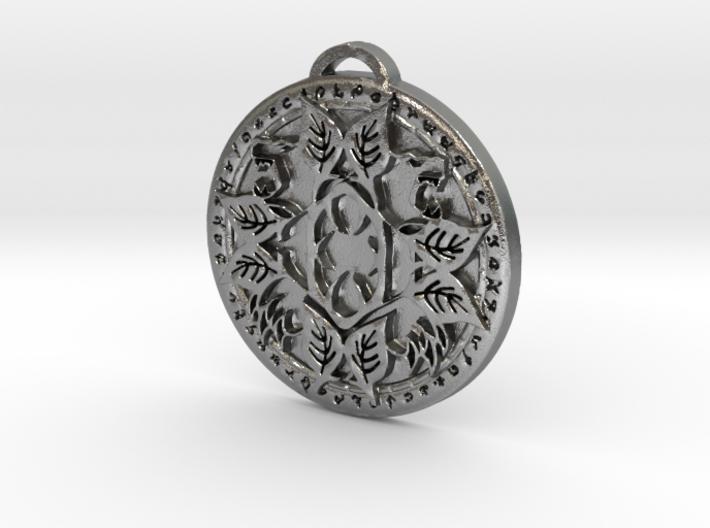 Druid Class Medallion 3d printed