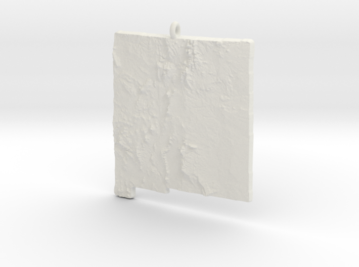 New Mexico Christmas Ornament 3d printed