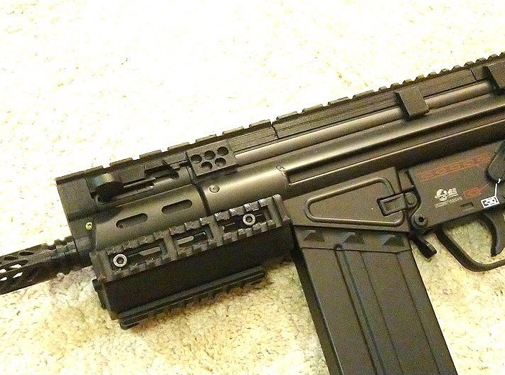 G3 SAS Full Rail with Rear Sight Replacement 3d printed