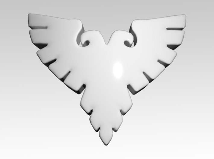 Silver Eagles Shoulder Icons x50 3d printed Product is sold unpainted.