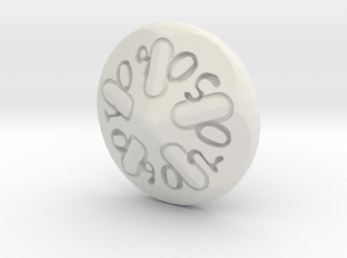 Sand dollar d00 3d printed