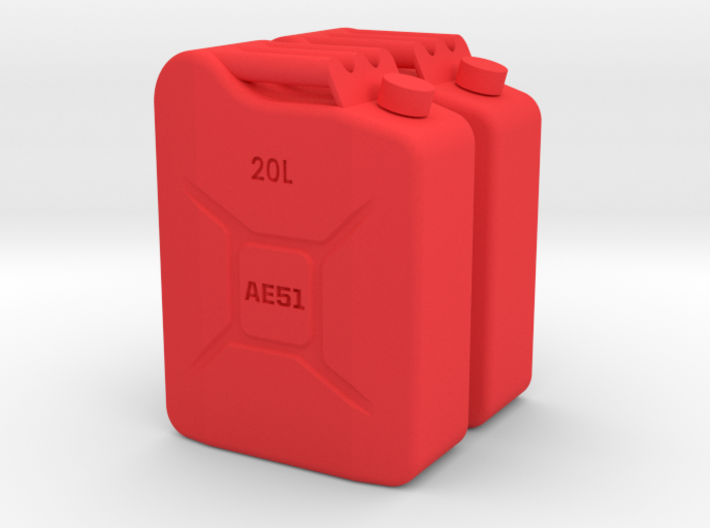 12th Scale Jerry Can (2pcs) 3d printed