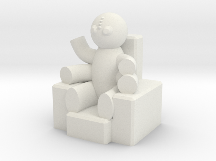 Enthroned Four-armed Teddy 3d printed