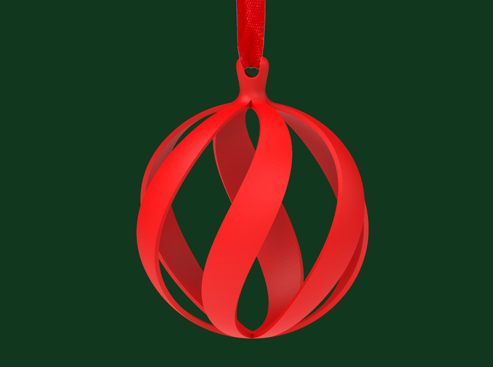 Swirl Christmas Tree Ornament 3d printed