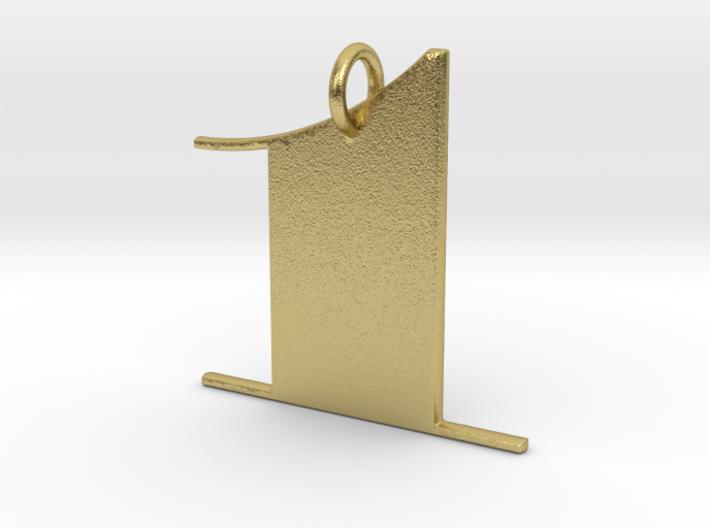 Numerical Digit One Pendant 3d printed