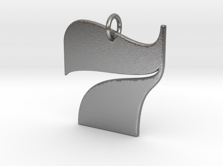 Numerical Digit Seven Pendant 3d printed