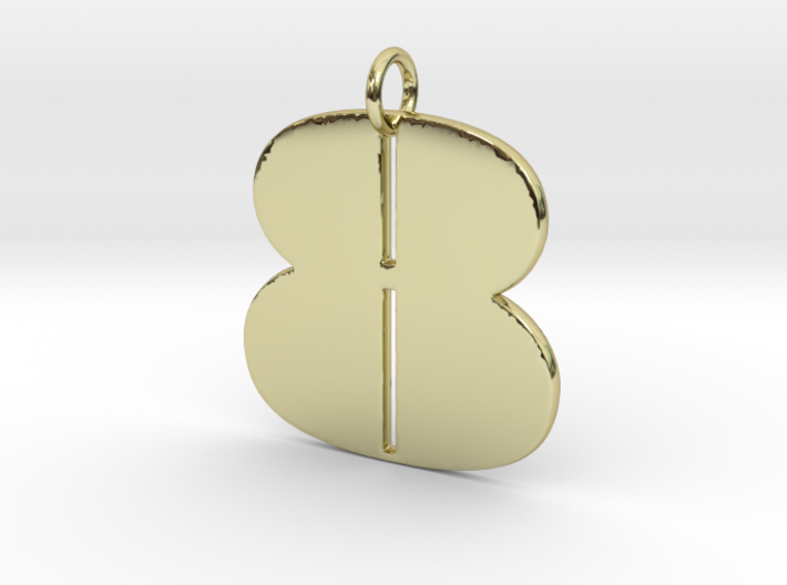 Numerical Digit Eight Pendant 3d printed