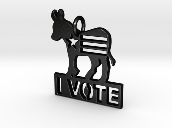 I Vote Donkey Pendant 3d printed