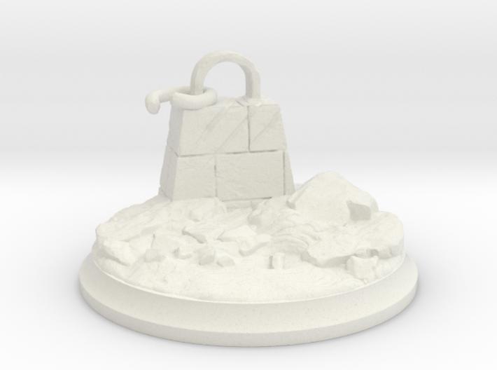 Broken Dragon Anchor - Tabletop Base 40 mm 3d printed