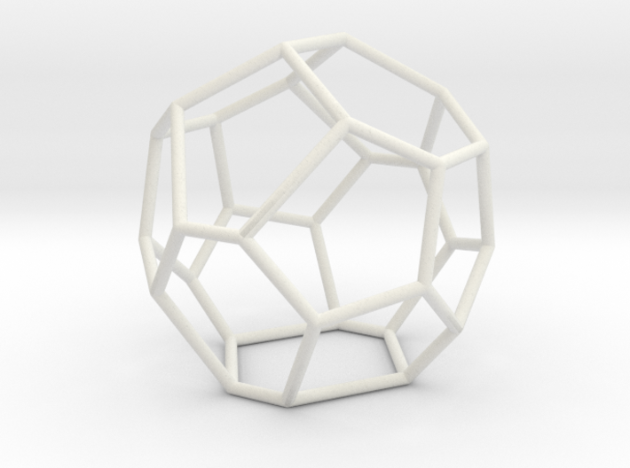 Fullerene with 17 faces, no. 3 3d printed