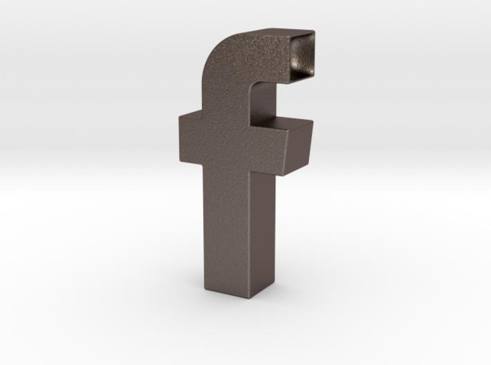 Facebook Logo Inspired Pipe 3d printed