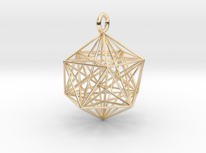 Icosahedron Dodecahedron Nest - 32mm 3d printed