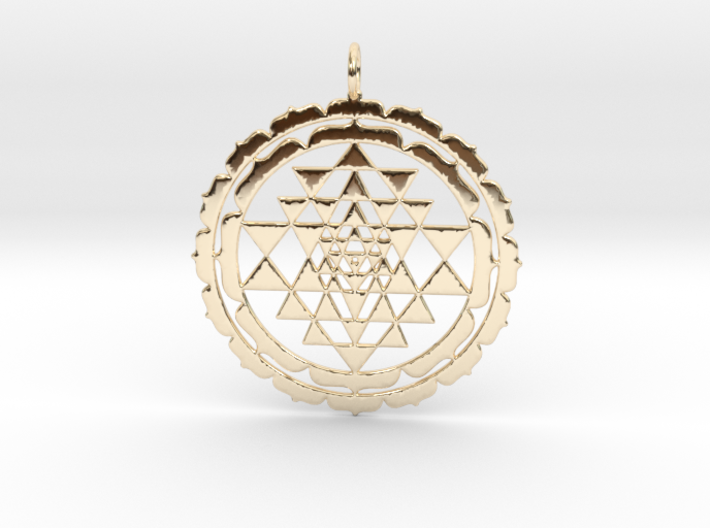 Sri Yantra Lotus 48mm