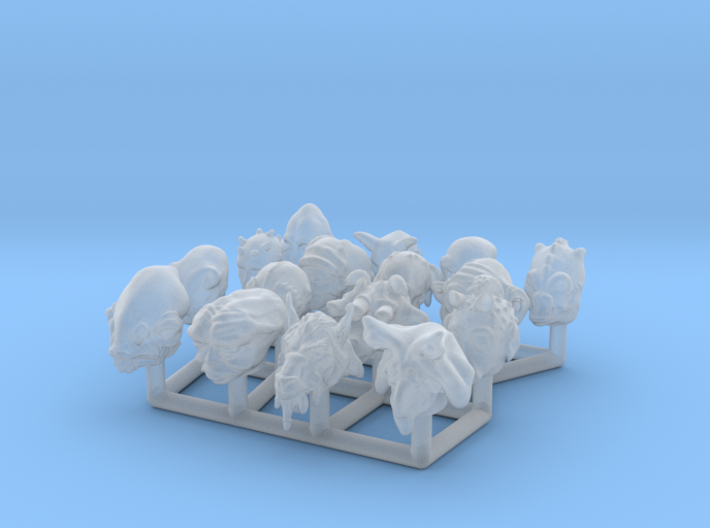 (Legion) Alien Heads Set I 3d printed