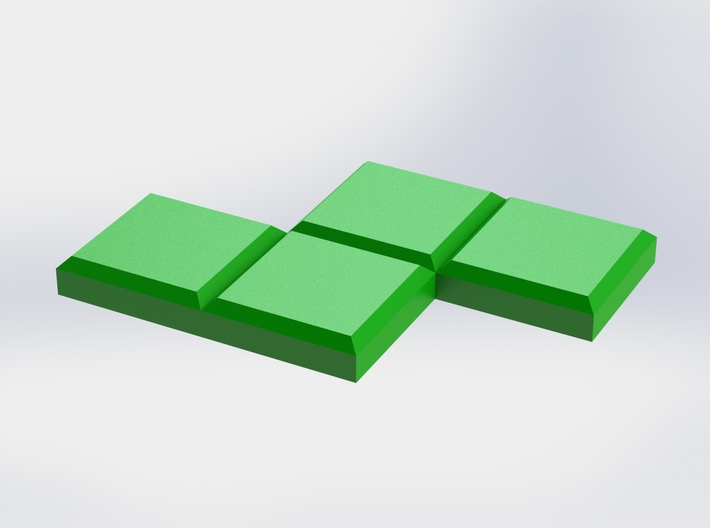 Green Zigzag Coaster 3d printed