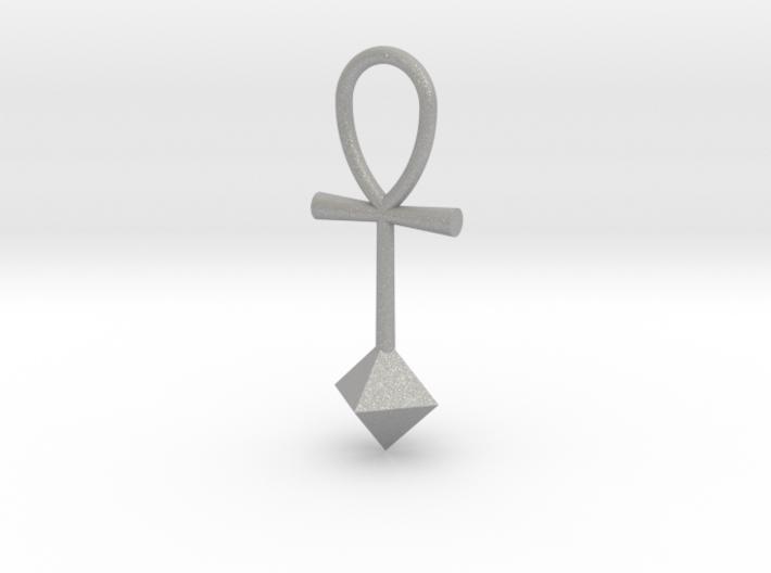 Octahedron energy pendant 3d printed