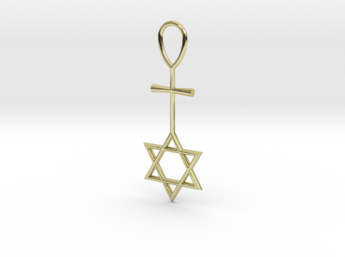 Davidstar_Christ_Ankh_cross 3d printed