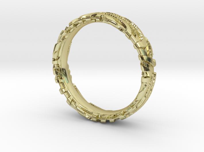 Wedding Ring Zebra 5 mm 3d printed