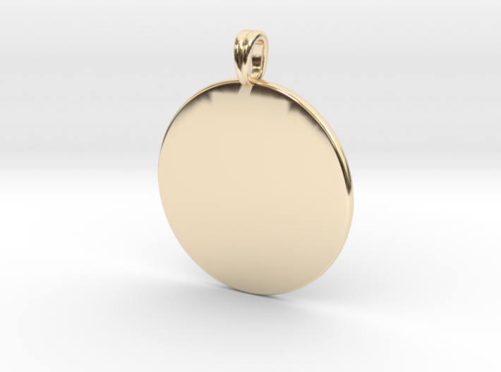 Initial charm jewelry pendant 3d printed