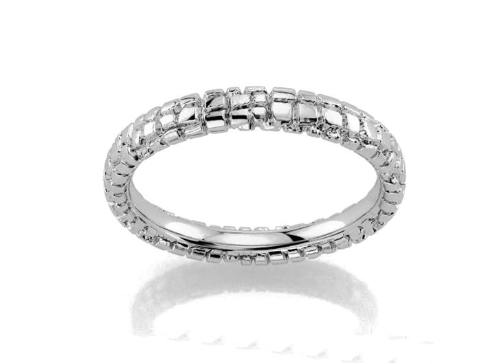 Wedding Ring Street 3 mm 3d printed adoquines anillo