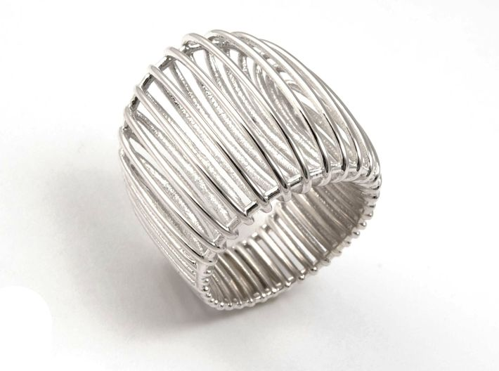 Structure ring. 3d printed Big and confortable ring