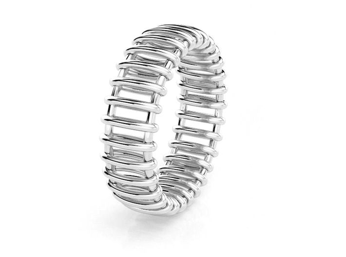 Small Structure Ring  3d printed Tren anillo